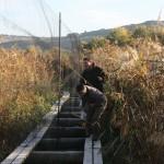 Pasarelas con redes en Las Minas