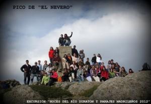El grupo completo en El Nevero