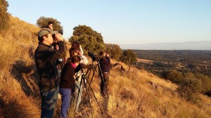 Foto del grupo observando la berrea. Autora: Beatriz  Vigalondo.